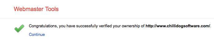 Successfully verified Chillidog Software
