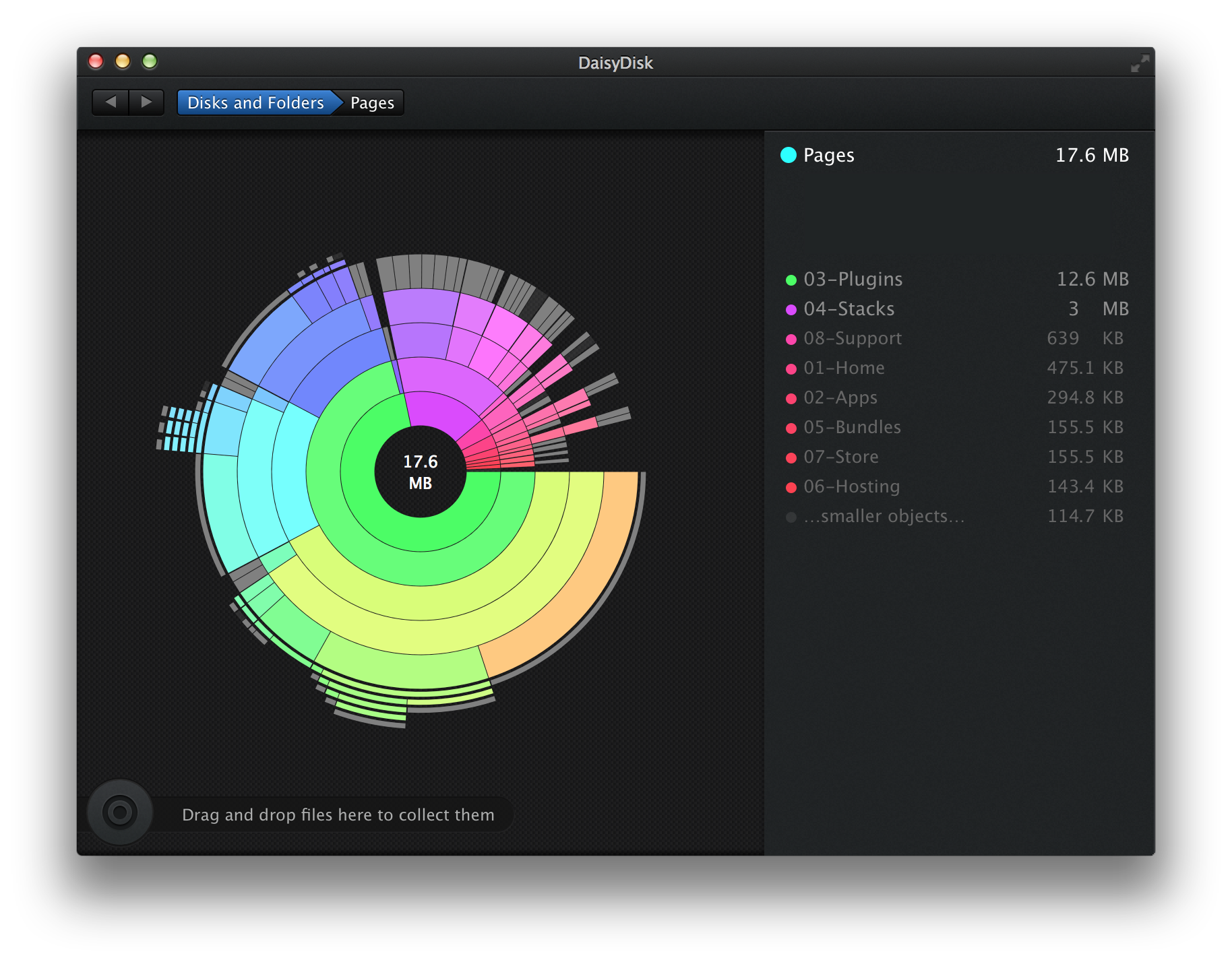 View page usage in DaisyDisk for your project file